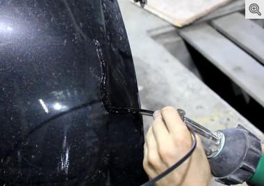 сварка трещины в бампере пластиком